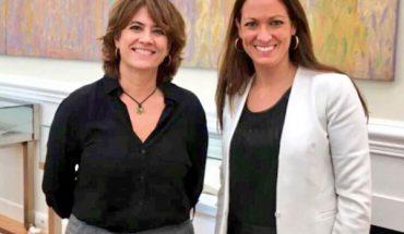 del primer encuentro entre la decana del Colegio de la Abogacía de Barcelona, Mª Eugènia Gay, con la ministra de Justicia, Dolores Delgado