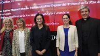 De izq. a dcha. Irene Briones, Lourdes Ruano, María Segimón, Mónica Montero y Carlos Manuel Morán