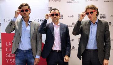 Feliciano López, director del Mutua Madrid Open; Luis del Pozo, CEO de Legálitas; y Gerard Tsobanian, CEO y presidente del Mutua Madrid Open
