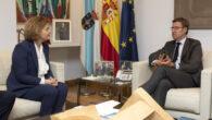 La decana del Colegio de Registradores, María Emilia Adán, ha realizado hoy una visita institucional al presidente de la Xunta de Galicia, Alberto Núñez Feijóo