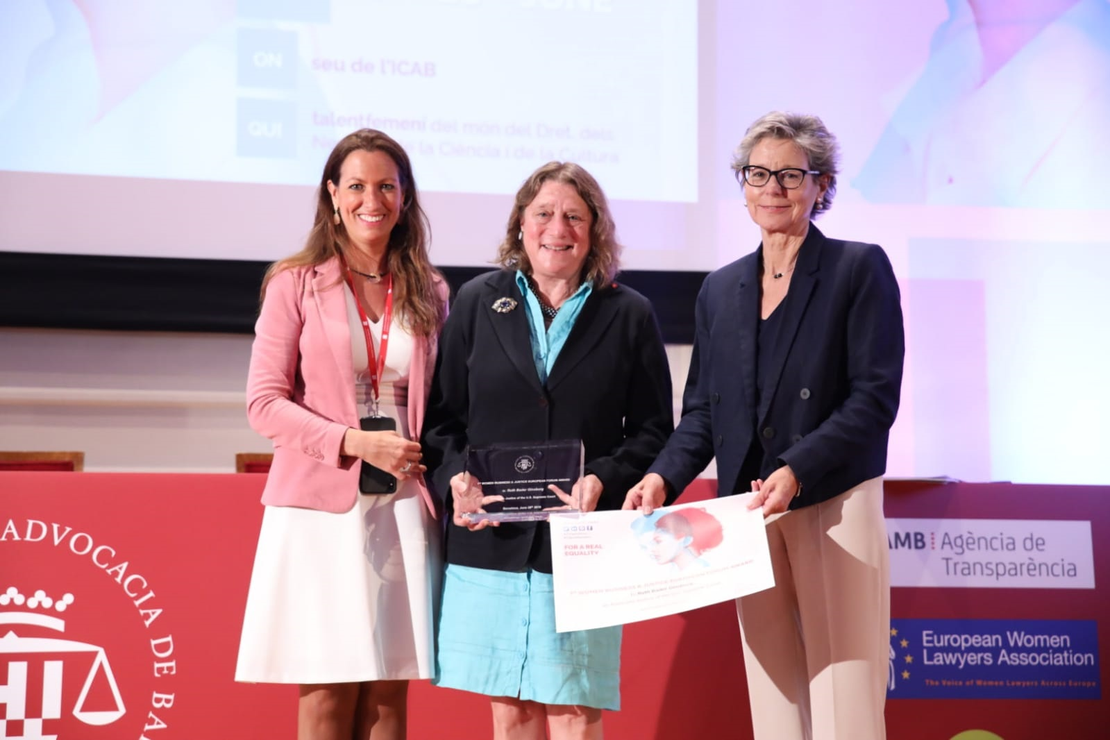 1st Women Business & Justice European Forum Award