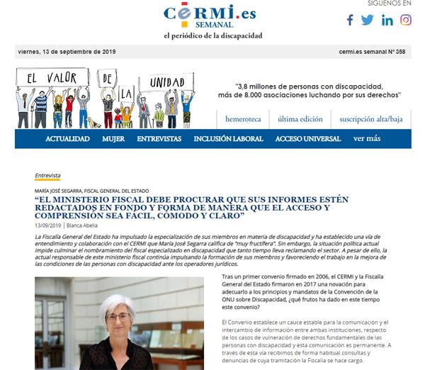 María José Segarra CERMI semanal