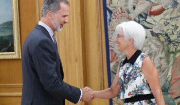 María José Segarra y el Rey Felipe VI
