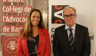 el presidente del CAC, Roger Loppacher, y la decana del ICAB, Mª Eugènia Gay