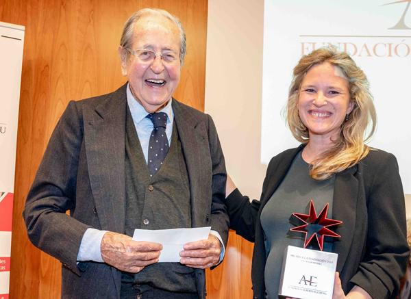 Alberto Elzaburu, Presidente de la Fundación y Núria Amigó