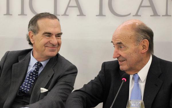 José María Alonso y Miquel Roca en el Foro Justicia del ICAM