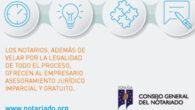 folleto informativo sobre los principales servicios notariales relacionados con las empresas