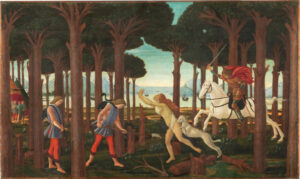 La historia de Nastagio Degli Onesti de Boticelli