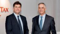 Miguel Blasco y el socio director de Andersen Tax & Legal en España, Jaime Olleros