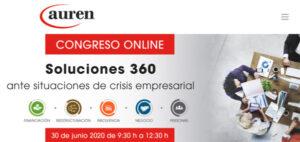 Auren organiza el Congreso Soluciones 360 ante situaciones de crisis empresarial