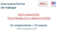 'Declaración de teletrabajo e innovación: 12 compromisos + 12 causas