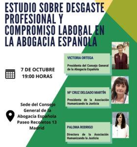 Estudio sobre el nivel de desgaste profesional y compromiso laboral en la abogacía española