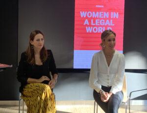 Marlen Estévez, presidenta de WLW y Ana Martínez Enguídanos, secretaria general