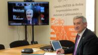 El rector de la Universidad de Oviedo, Santiago García Granda, y el director general de Negocio de ONTIER España, Carlos Ranera González