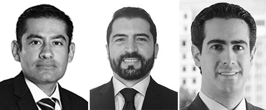 Jorge Ambriz, Alfonso Martínez y Gabriel Ortiz
