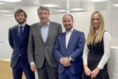 Rafael Rojas, David García, vicepresidente de RSM Spain, Ignacio Hidalgo y Rocío Vivo