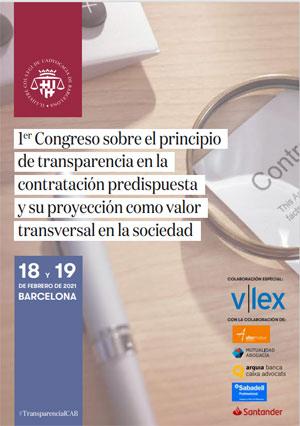 I Congreso sobre el principio de transparencia en la contratación predispuesta y su proyección como valor transversal en la sociedad