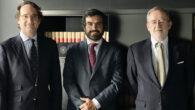 Pedro Rodero, socio director de ONTIER España, Álvaro Barro y Alberto Manzanares