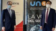 El presidente de UNO Logística, Francisco Aranda y el presidente de Auren, Mario Alonso