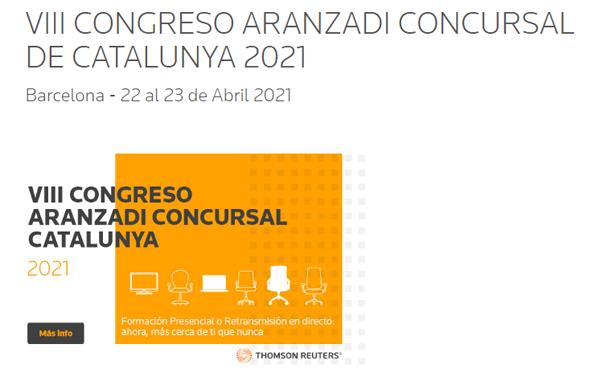 VIII CONGRESO ARANZADI CONCURSAL DE CATALUNYA 2021