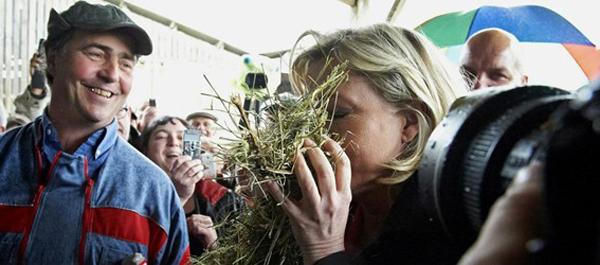 Marine Le Pen en la campaña presidencial de 2012. Foto de Thierry Pasquet para Libération