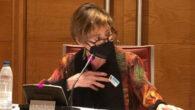 La presidenta de Unión Profesional, Victoria Ortega, durante su intervención en el Senado