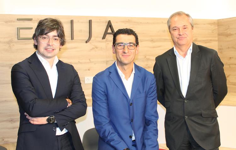 Alejandro Touriño, socio director de ECIJA, Hugo Écija, fundador y presidente ejecutivo de ECIJA y Pablo Jiménez de Parga, vicepresidente ejecutivo de ECIJA