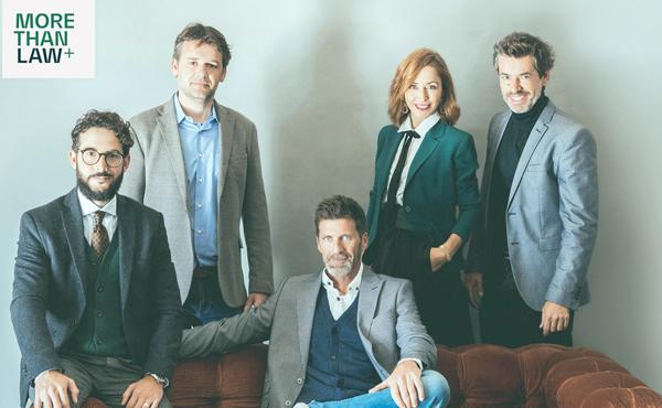 Los socios de MTLaw+, de Izda a derecha: Isaac Bordons, Ferrán Vilanova, José Rozas, Paula Fernández-Ochoa y Jordi Anguera