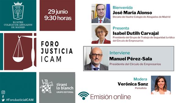 Foro Justicia ICAM 29 de junio 2021