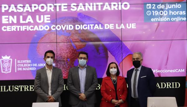 De izq. a dcha. Rafel Martínez, Eduardo López Granados, Esperanza Marcos y Juan José Bestard