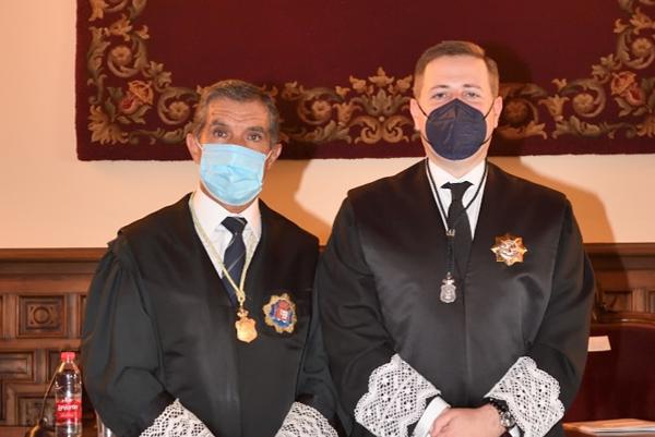 José Ramón Carrasco, presidente del Consejo Andaluz de Procuradores , y Lorenzo del Río, presidente del TSJA