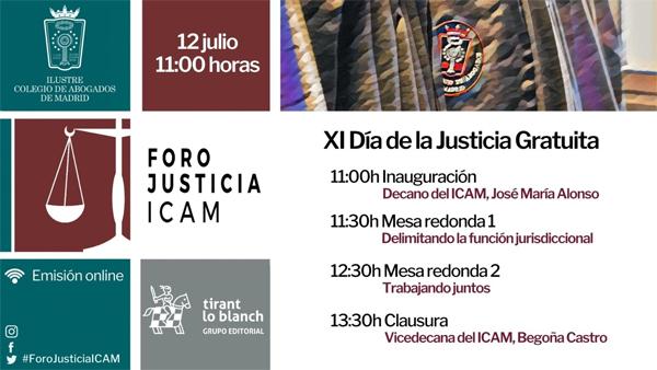 Foro ICAM XI Día de la Justicia Gratuita