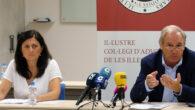 El decano del Colegio de Abogados de Baleares (ICAIB), Martín Aleñar Feliu, y la responsable del Turno de Oficio, Carmen López González