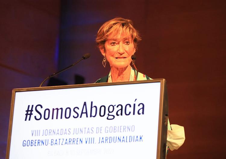 La presidenta del Consejo General de la Abogacía, Victoria Ortega