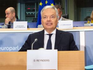 Didier Reynders, Comisario Europeo de Justicia