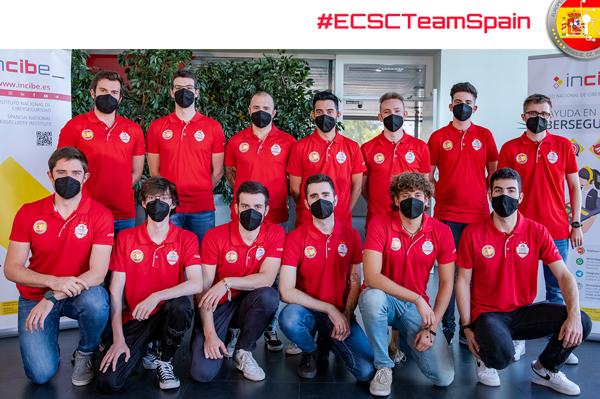 El equipo español en ECSC 2021