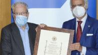 Antonio Garrigues Walker recibe la condecoración de la Cruz de Honor Institucional de la Orden Iberoamericana de Justicia