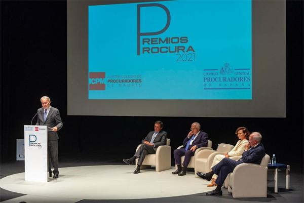 Juan Carlos Estévez en la entregada de los Premios de la Procura